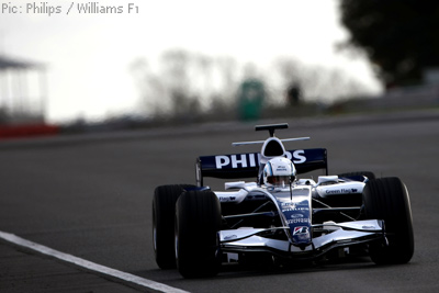 Rob Tarlton on track in the Williams FW29