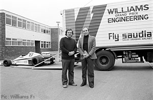 Sir Frank Williams and Patrick Head in 1978