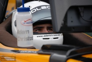 Adam Christodoulou in his debut Atlantic Championship test
