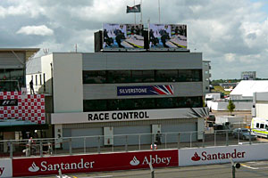 Silverstone race control during the 2009 British Grand Prix weekend