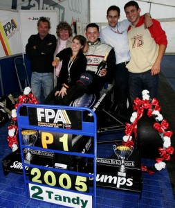Joe Tandy, Formula Palmer Audi champion. Photo courtesy of the Tandy family.