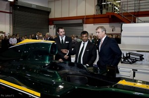 HRH The Duke of York visits the Lotus Racing factory