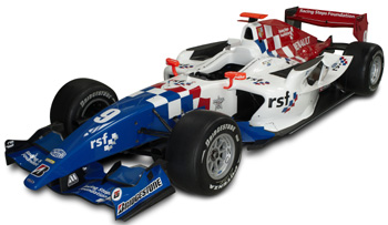 Oliver Turvey's 2010 iSport car with Racing Steps Foundation branding