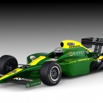 How the current IndyCar design will look in Lotus colours