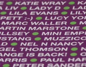 Supporters' names and images make up the YRC car livery