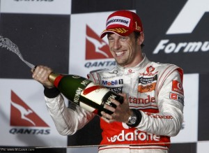 Jenson Button won his first race for McLaren