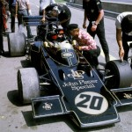 Colin Chapman and Emerson Fittipaldi at the 1972 Austrian GP