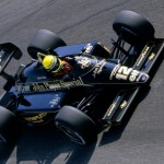 Ayrton Senna and the Lotus 97T in 1985, Monza Parabolica