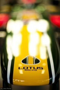 The Lotus F1 logo - a bit like the road cars, a bit not like them