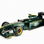 Lotus F1 has kept the traditional British Racing Green and yellow