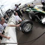 Pit road action for Lotus at St Pete