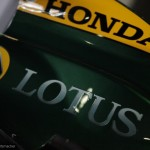 Unlike the F1 car, the IndyCar has the proper Lotus logo