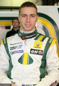 Daniil Move drives for the Lotus F1 Racing Junior team in WSR