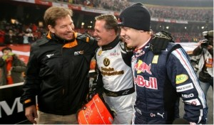 Race of Champions: Schumacher and Vettel