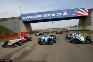Some of this year's British F3 entrants put on a show for the cameras