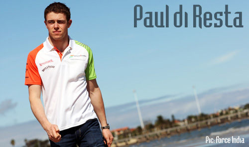 Paul di Resta in Australia for his first grand prix