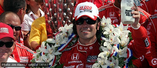 Dario Franchitti wins the Indianapolis 500