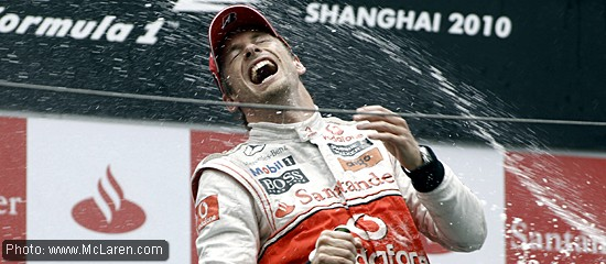 Jenson Button in Shanghai