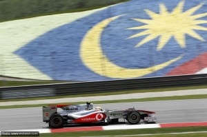 Lewis Hamilton during Friday pactice at Sepang