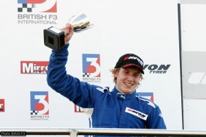 Henry Surtees won at Donington for Carlin in 2008