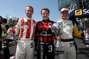 The top three drivers from race one