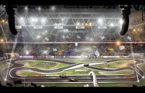 Artist's impression of the Dusseldorf track (Pic: RoC)
