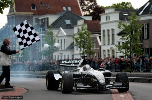 Robert Doornbos on the streets of Assen