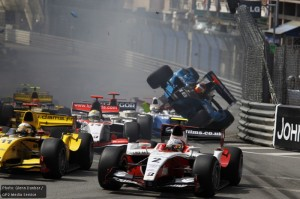 It all goes wrong for Chilton at Monaco