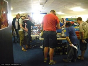 Slot-car fans in Donington Park's conference hall