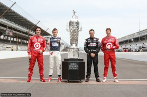 Been there, done that: past winners Franchitti, Wheldon, Castroneves and Dixon