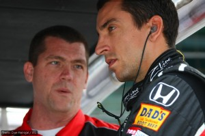 Justin Wilson, deep in discussion
