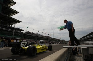 Owner-driver Sarah Fisher gets under way