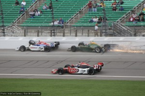 Hideki Mutoh and Takuma Sato were set for strong finishes until their late-race crash