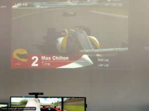 Max Chilton was among the professionals to try it out