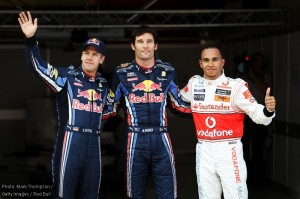 The Red Bull drivers led Lewis Hamilton in qualifying