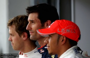 Vettel, Webber and Hamilton were the top three in qualifying