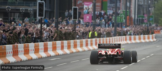James Walker puts the Liverpool car through its paces for home fans