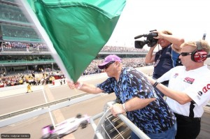 Jack Nicholson waved the green flag for the start