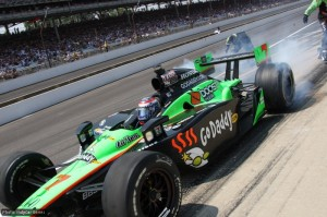 Danica Patrick gets back under way