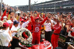Franchitti celebrates his second Indy 500 win