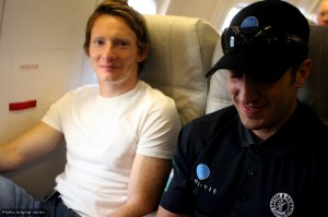 Mike Conway (left) and Tomas Scheckter