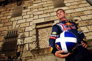 David Coulthard on PR duty for Red Bull in Hungary, 2009.