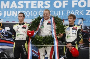 Sims, a grinning Bottas and Marco Wittman on the podium