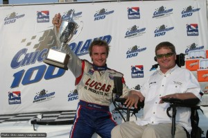 Flashback to 2006 as Jay Howard and Sam Schmidt celebrate their Indy Pro success