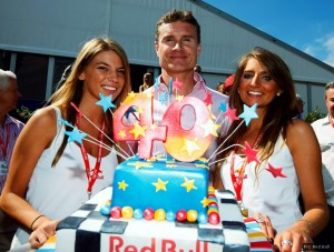 David Coulthard had something to celebrate