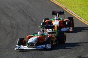 Force India's Paul Di Resta and Adrian Sutil were promotoed into the points by the Saubers' disqualification