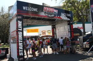 The IndyCar fan village - beer, lemonade and pretzels