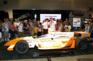 Dan Wheldon and Bryan Herta unveil the car Wheldon will use for the Indy500