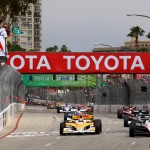 Will Power and Ryan Hunter-Reay lead Mike Conway at the start