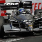 Mike Conway was untouchable on the restarts